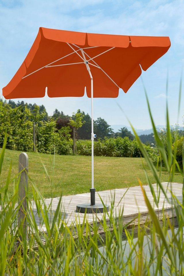 Schneider Schirme Sonnenschirm »Ibiza«, LxB: 180x120 cm, ohne Schirmständer, orange