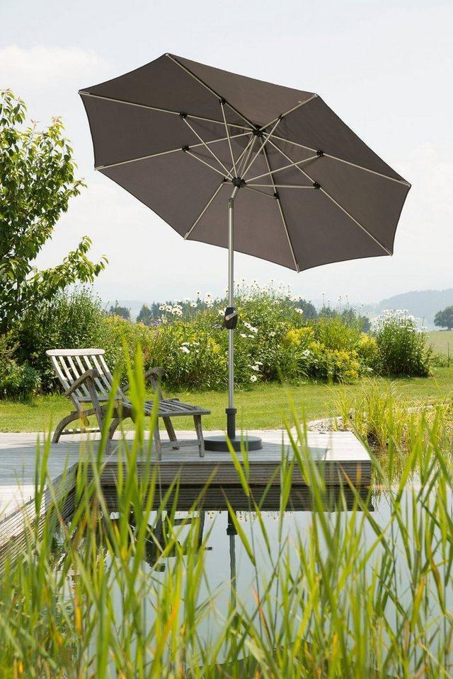 Schneider Schirme Sonnenschirm »Venedig«, ohne Schirmständer, grau