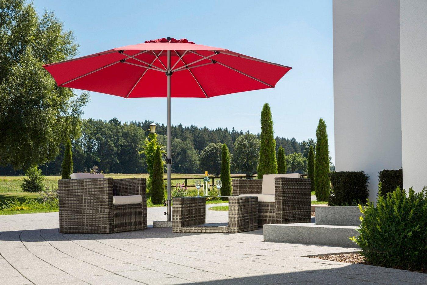 Schneider Schirme Sonnenschirm »Gemini«, LxB: 360x360 cm, ohne Schirmständer, rot