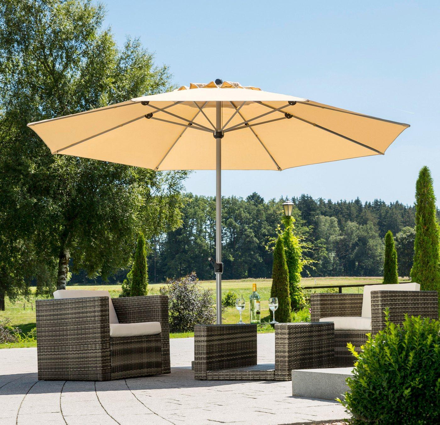 Schneider Schirme Sonnenschirm »Gemini«, LxB: 360x360 cm, ohne Schirmständer, beige