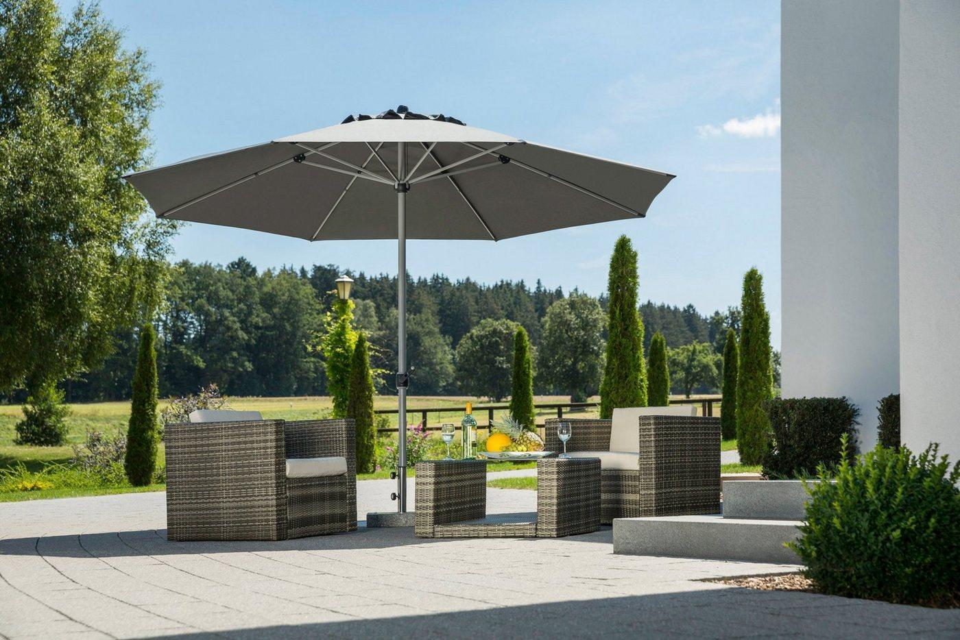 Schneider Schirme Sonnenschirm »Gemini«, LxB: 360x360 cm, ohne Schirmständer, grau