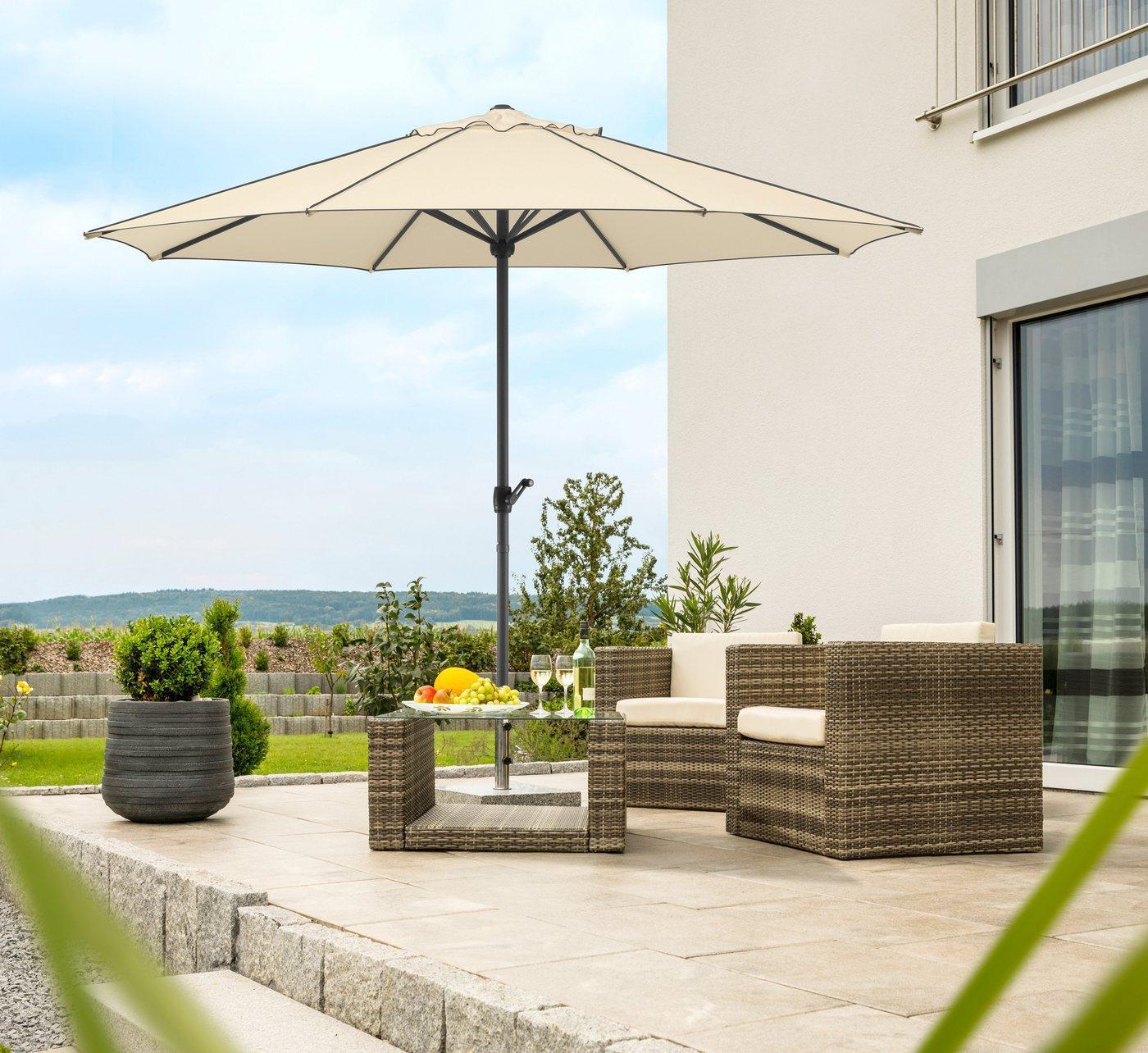 Schneider Schirme Sonnenschirm »Adria«, ohne Schirmständer, beige