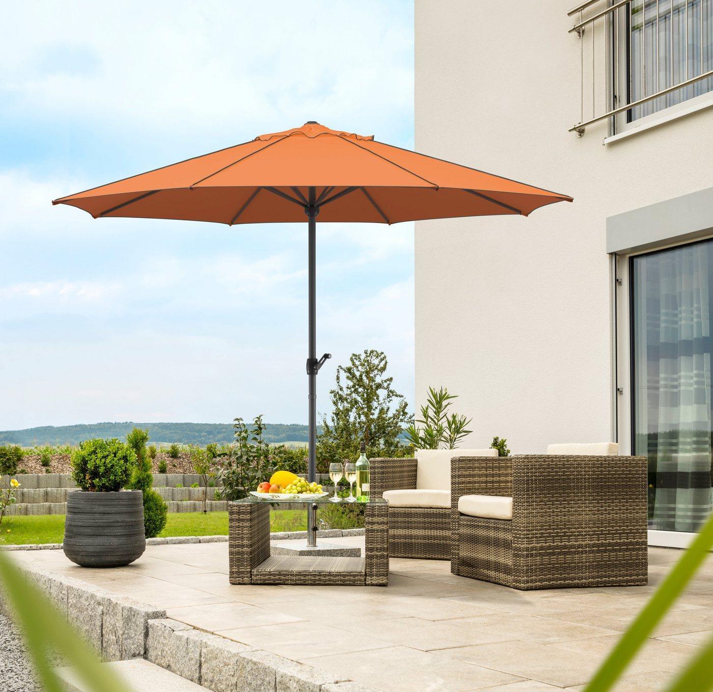 Schneider Schirme Sonnenschirm »Adria«, ohne Schirmständer, rot