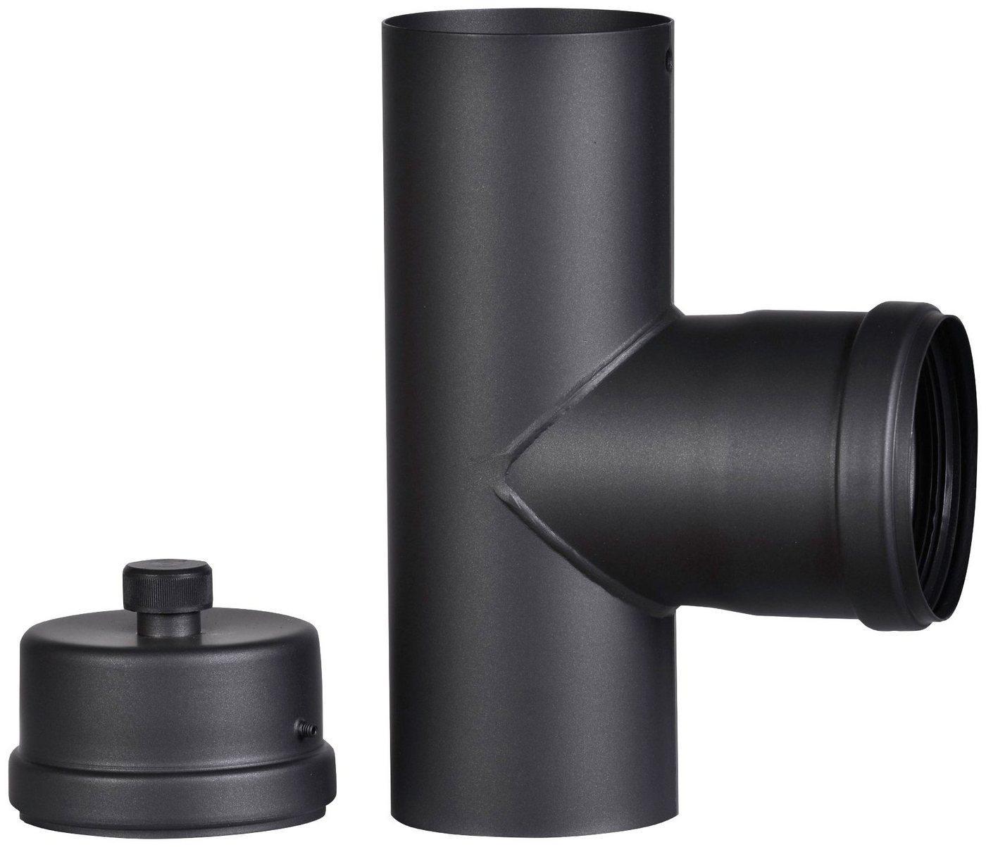 Firefix Ofenrohr T-Stück, 80 mm, 90°, für Pelletofenrohr