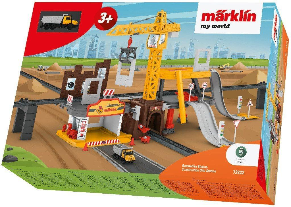 Märklin Modelleisenbahn-Baustelle »Märklin my world - Baustellen Station - 72222«, Spur H0
