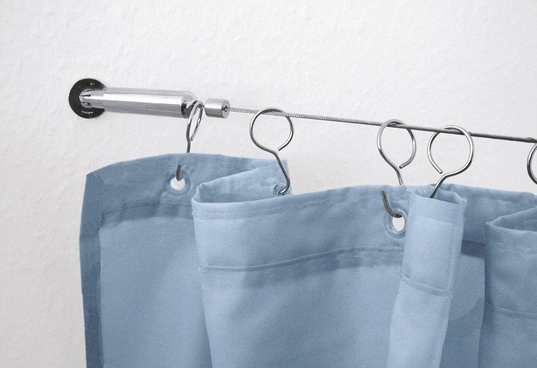 Duschvorhang-Seilsystem, Kleine Wolke, kürzbar, Länge bis 500 cm