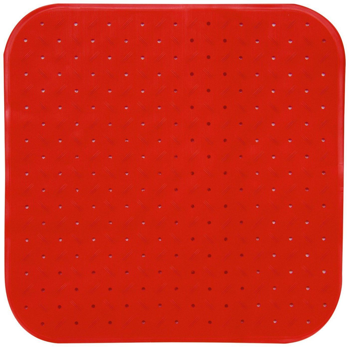 MSV Duscheinlage »CLASS PREMIUM«, B: 54 cm, L: 54 cm, rutschfest, BxH: 54 x 54 cm, rot