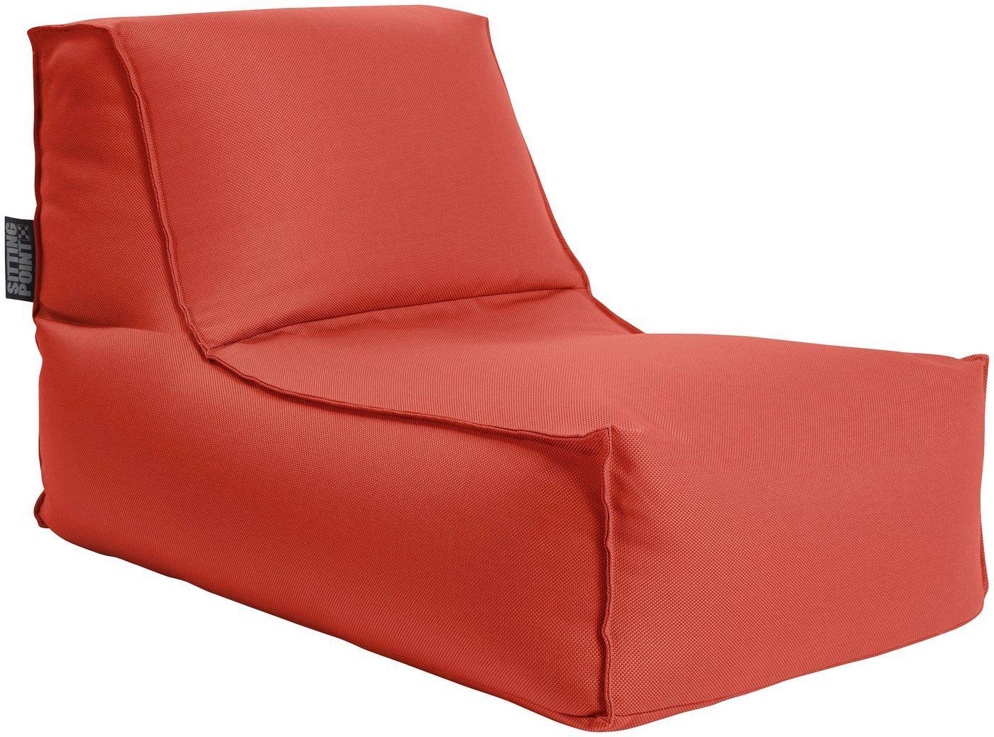 Sitting Point Sitzsack »KORFU Rock« (1 St), SITTING POINT für Indoor und Outdoor, rot