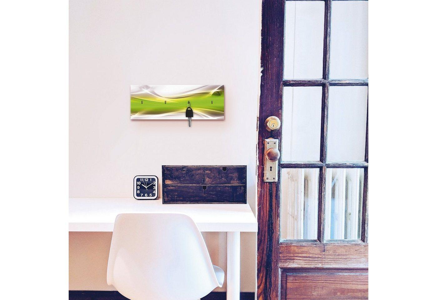 Artland Schlüsselbrett »Kreatives Element«, aus Holz mit 4 Schlüsselhaken – Schlüsselboard, Schlüsselbretter, Schlüsselhalter, Schlüsselaufhänger für den Flur – Stil: Modern