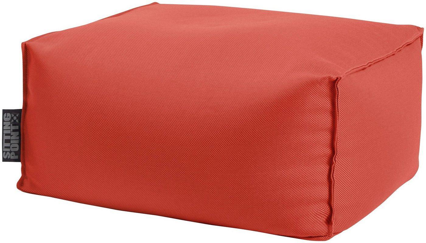 Sitting Point Sitzsack »KORFU Roll« (1 St), SITTING POINT für Indoor und Outdoor, rot
