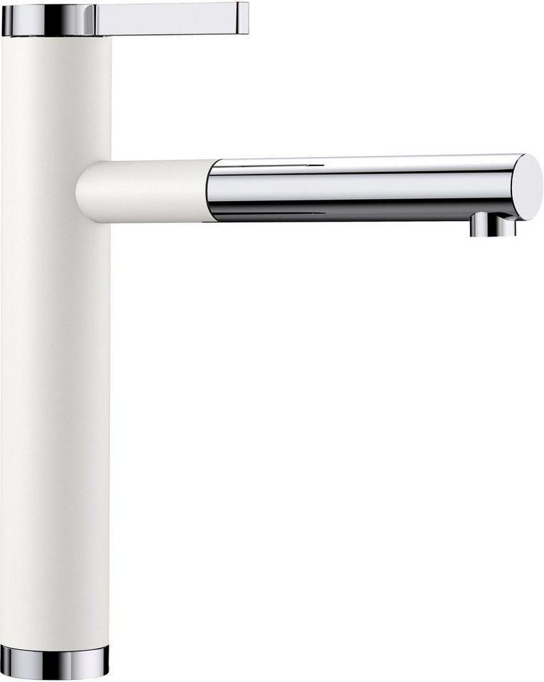 Blanco Küchenarmatur »LINEE-S« mit ausziehbarem Auslauf, weiß