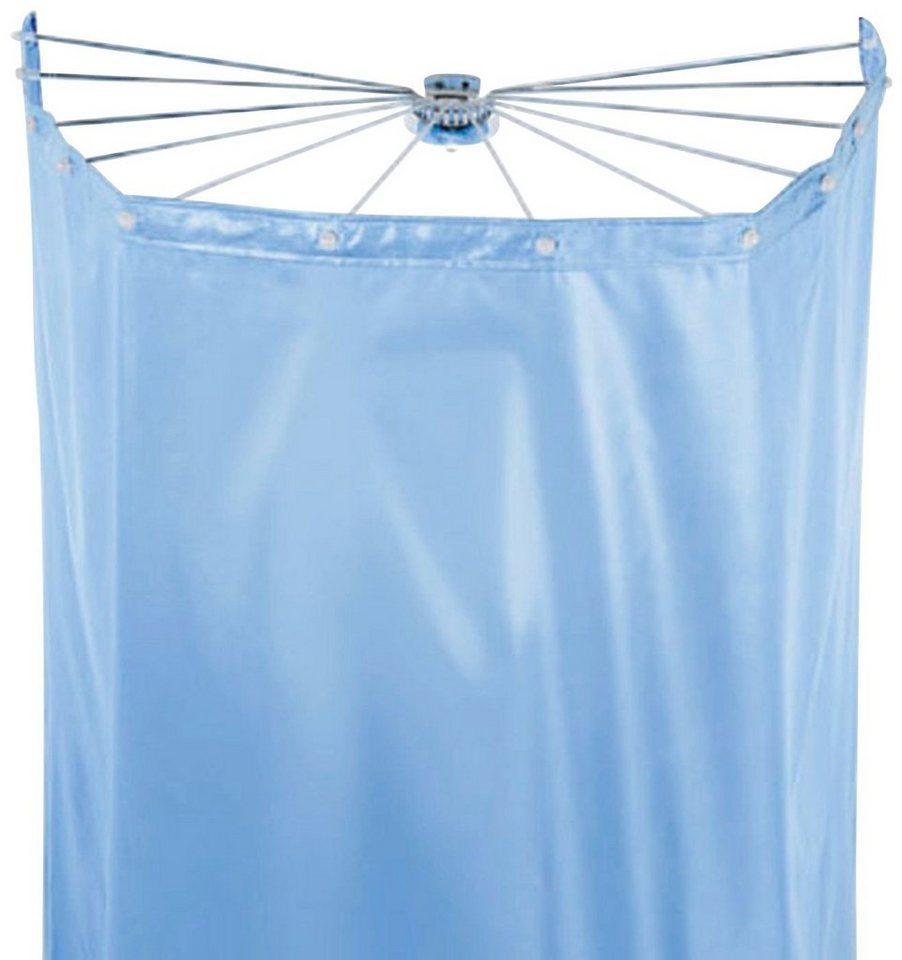 spirella Duschschirm »Ombrella« Breite 170 cm (Set), mit 8 Ösen, white, 200x170 cm; Duschspinne und Vorhang