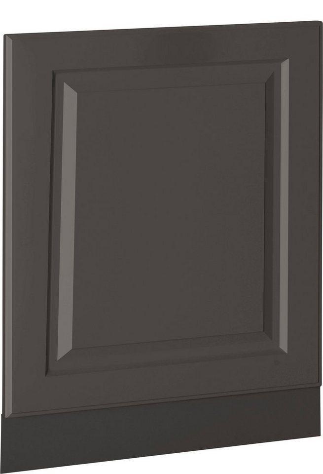wiho Küchen Möbelblende »Erla«, 60 cm breit, für teilintegrierbaren Geschirrspüler, grau