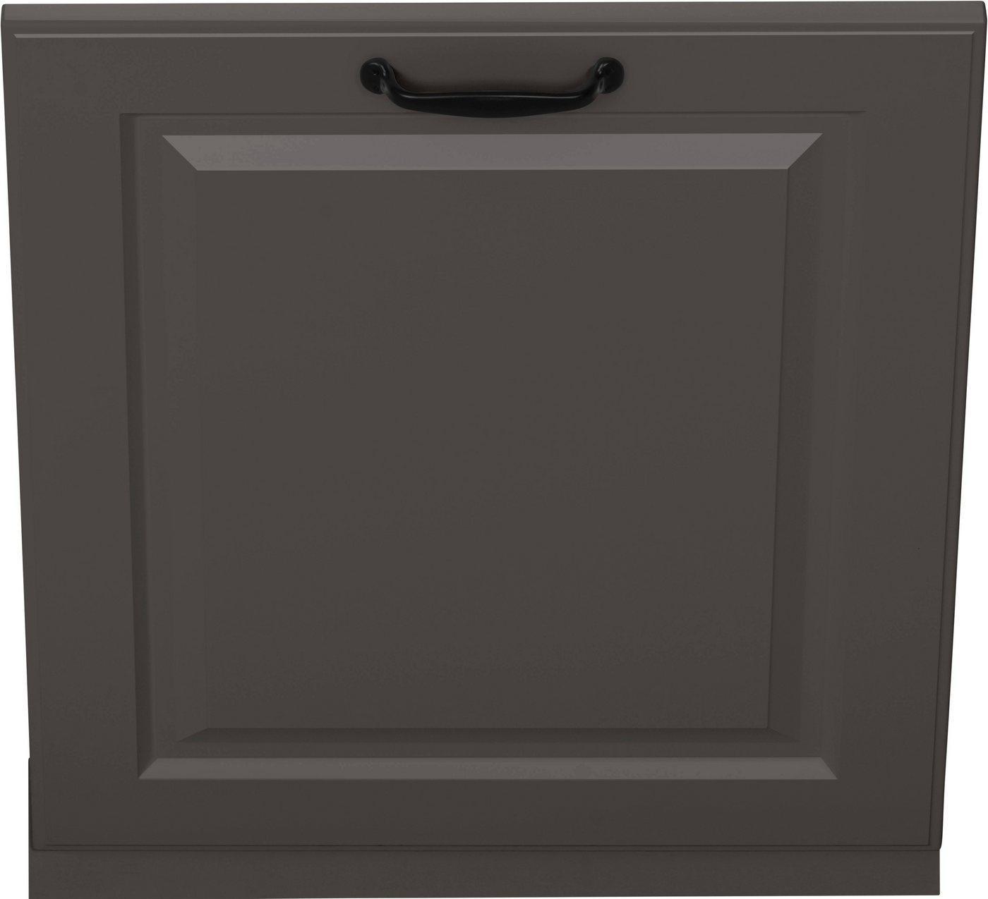 wiho Küchen Möbelblende »Erla«, 60 cm breit, für vollintegrierbaren Geschirrspüler, grau
