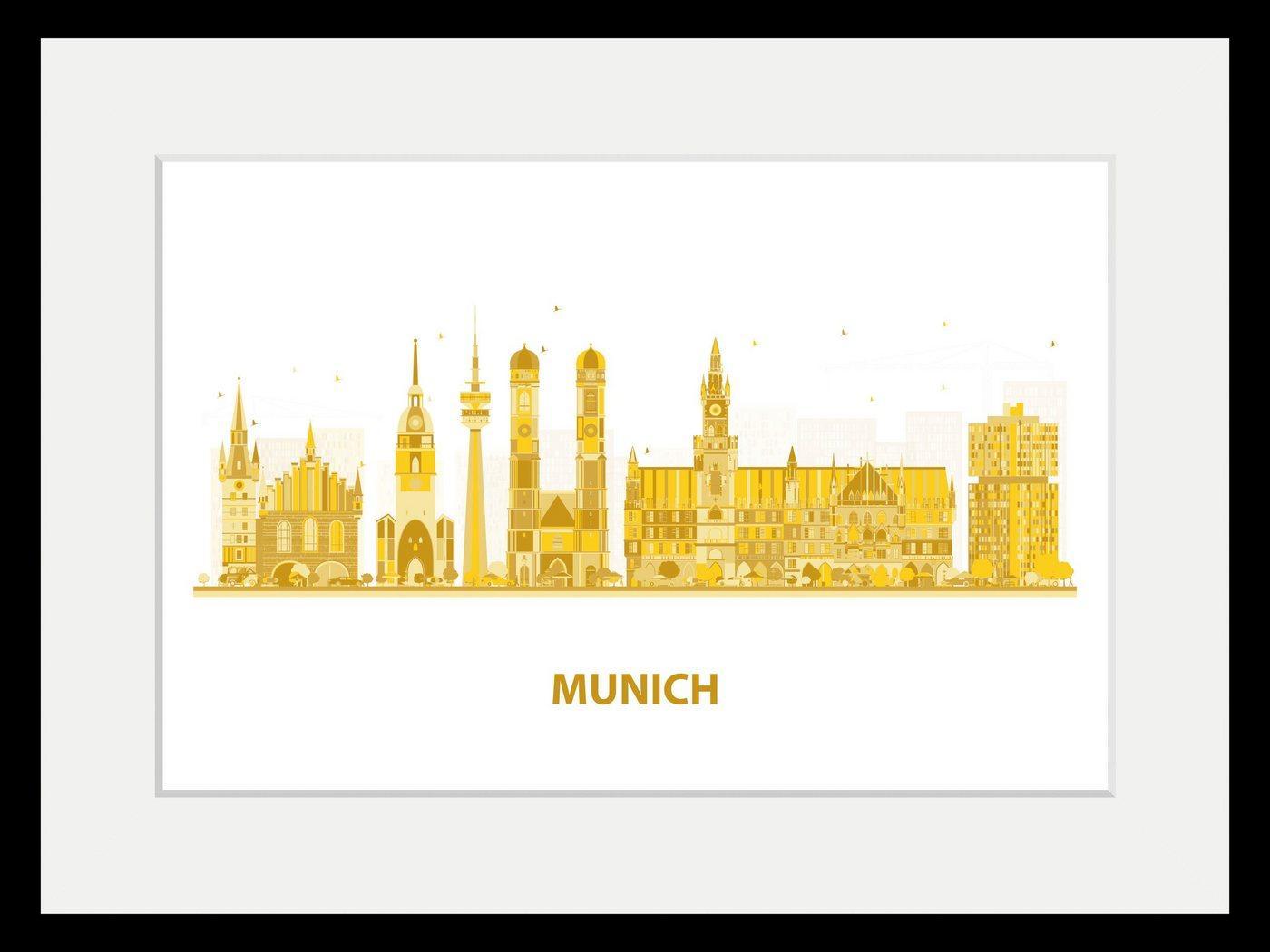 queence Bild »Munich Goldstadt«, Städte (1 Stück)