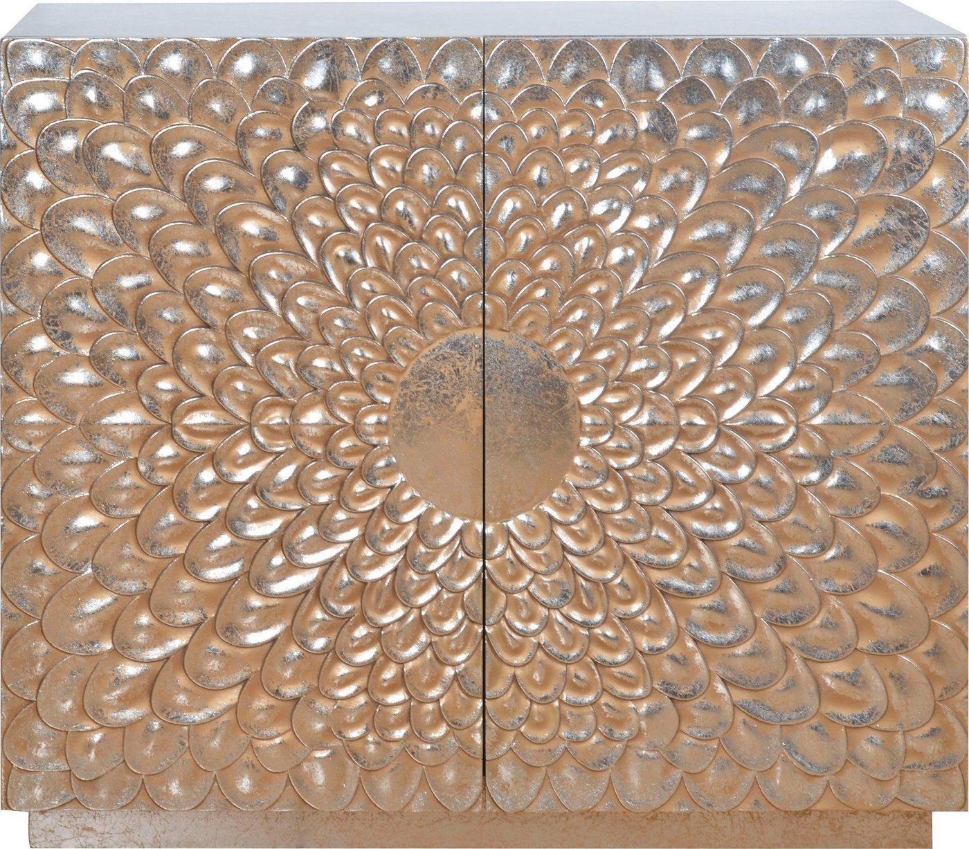 Leonique Kommode »Dahlia«, Handveredelt mit gewollten Gebrauchsspuren