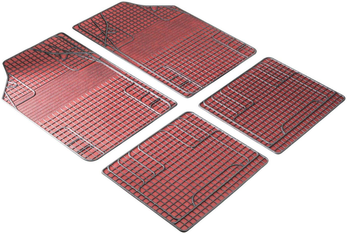 Walser Universal-Fußmatten »New Style« (4 Stück), Kombi/PKW, universal passend