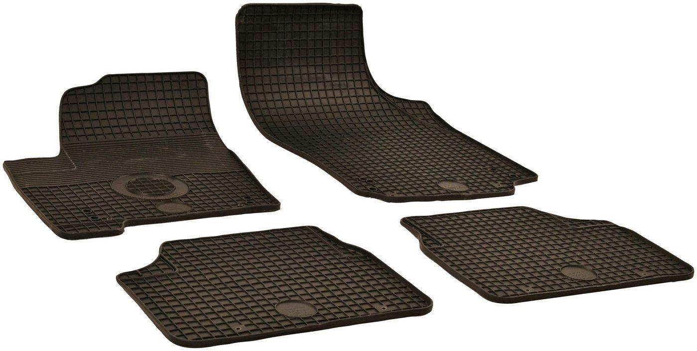 WALSER Passform-Fußmatten (4 Stück), Opel Meriva Großr.lim., für Opel Meriva A und Opel Meriva B