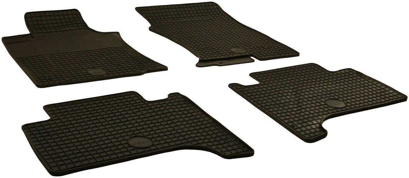 WALSER Passform-Fußmatten (4 Stück), Toyota Landcruiser V8 Geländewagen, für Toyota Landcruiser (120) BJ 2002-2009, Prado 2002 - heute, 150 BJ 2009 - heute