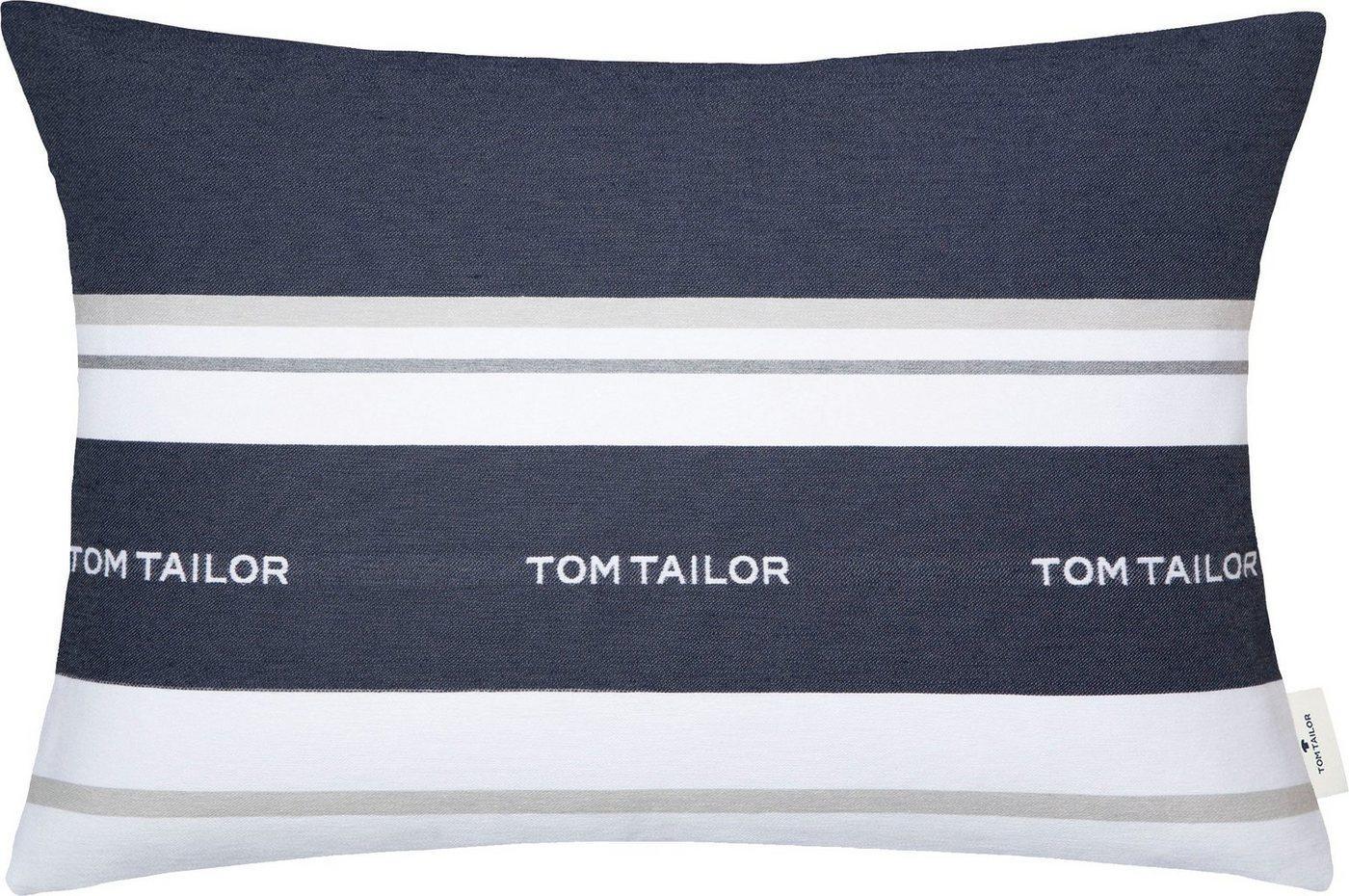 TOM TAILOR Kissenhülle »Logo«, mit eingewebtem Markenlogo