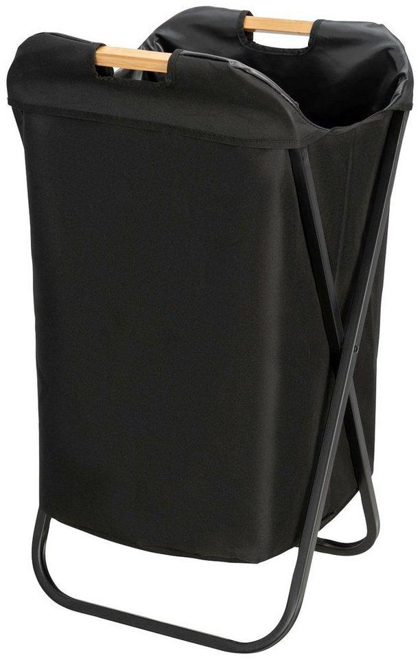 WENKO Wäschekorb »Loft«, klappbar, schwarz
