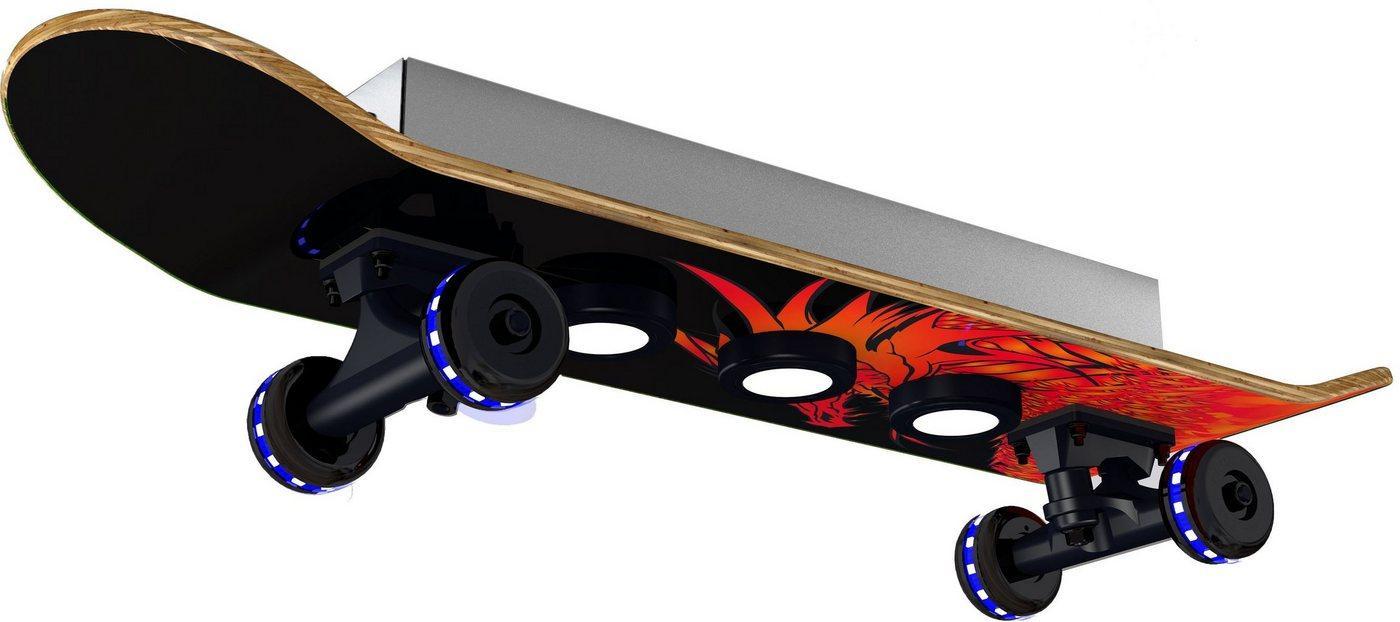 EVOTEC LED Deckenleuchte »Dragon«, Easy Cruiser, Skateboard-Design, Rollen - Wheels