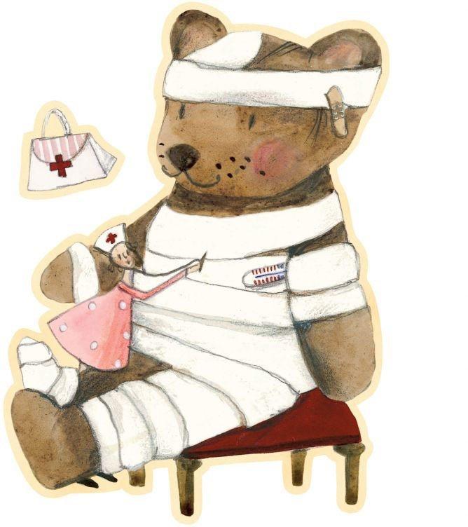 Wall-Art Wandtattoo »Gute Besserung kleiner Teddy« (1 Stück)