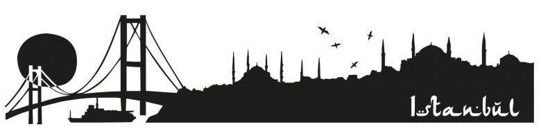 Wall-Art Wandtattoo »XXL Stadt Skyline Istanbul 120cm« (1 Stück)
