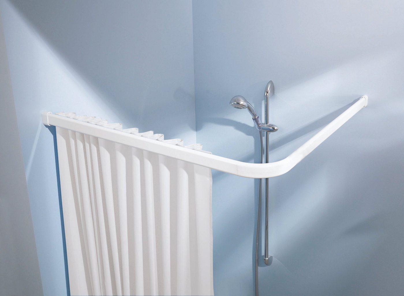 Vorhangschiene »Winkelschiene«, Kleine Wolke, kürzbar, für Duschvorhänge