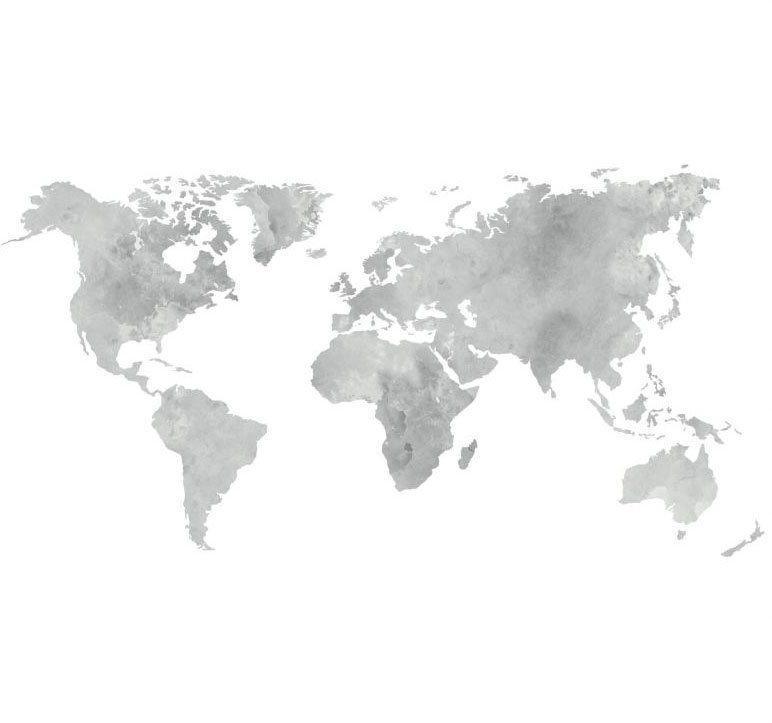 Wall-Art Wandtattoo »5 Bilderrahmen Weltkarte Grau« (1 Stück)