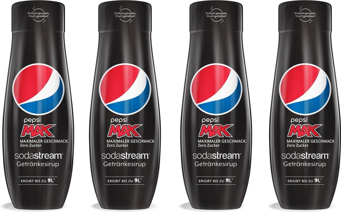 SodaStream Getränke-Sirup Pepsi Max, 4 Stück, für bis zu 9 Liter Fertiggetränk