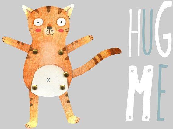 Wall-Art Wandtattoo »Teddy Tiger Katze Hug me« (1 Stück)