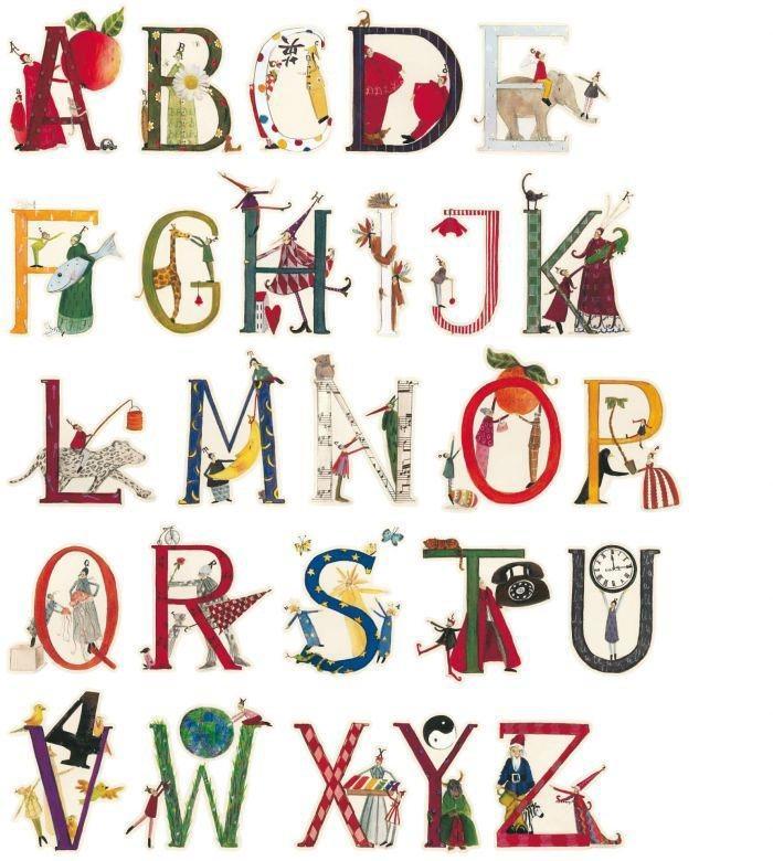 Wall-Art Wandtattoo »Kinderzimmer Blumen Alphabet« (1 Stück)