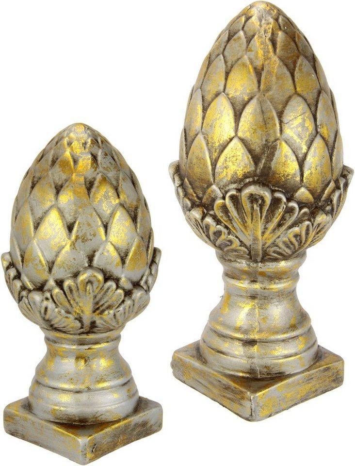 I.GE.A. Dekofigur »Keramik-Zapfen«, 2er Set