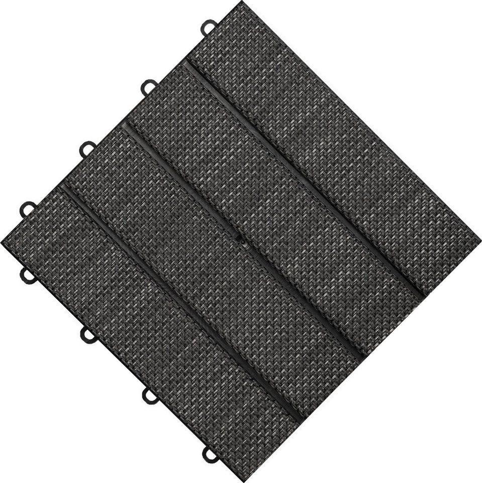 florco® Terrassenplatten »Tex«, 30x30 cm, 6-St., Klickfliesen
