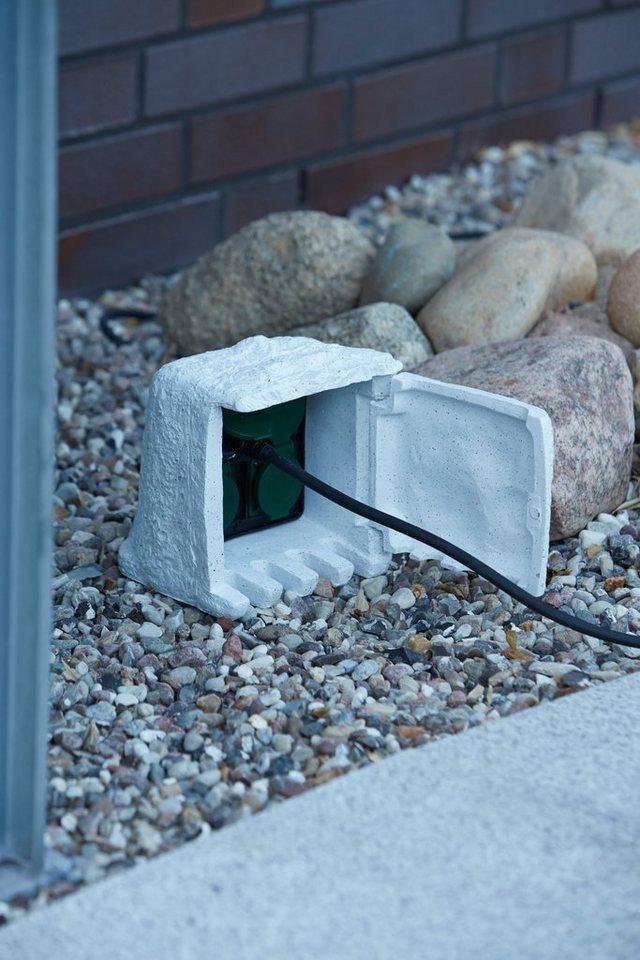 Ubbink Gartensteckdose »Stone Decor«, mit 4 Steckdosen
