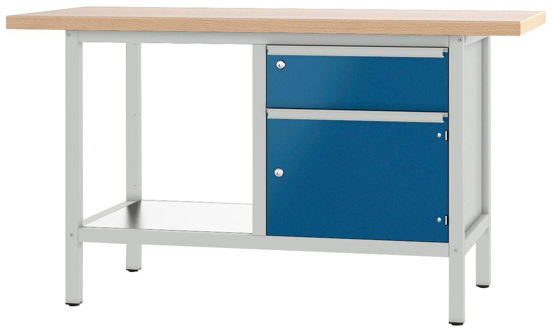 PADOR Werkbank »21 S 02/15 R«, Höhe: 85,5 cm, blau