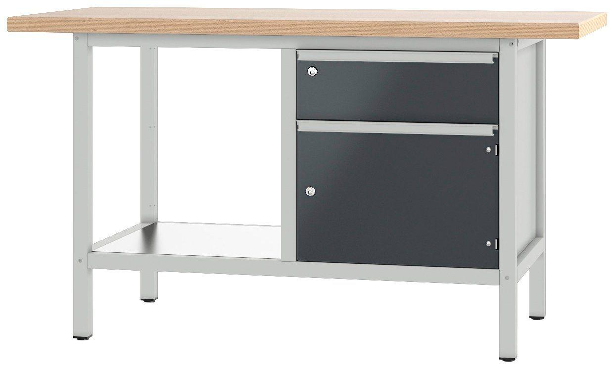 PADOR Werkbank »21 S 02/15 R«, Höhe: 85,5 cm, grau