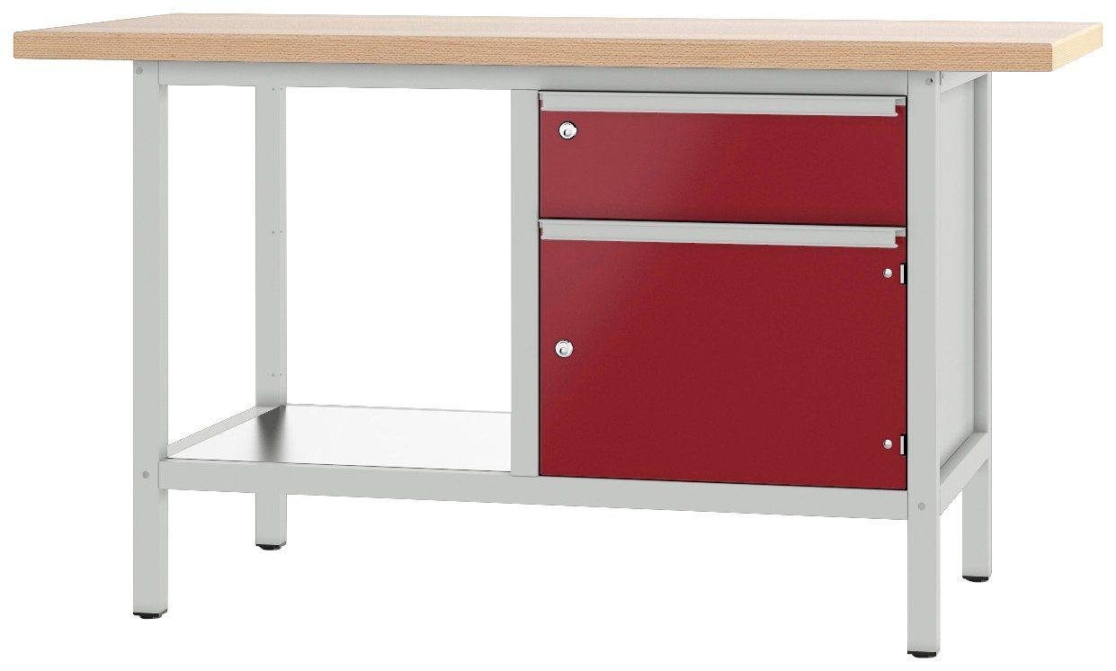 PADOR Werkbank »21 S 02/15 R«, Höhe: 85,5 cm, rot