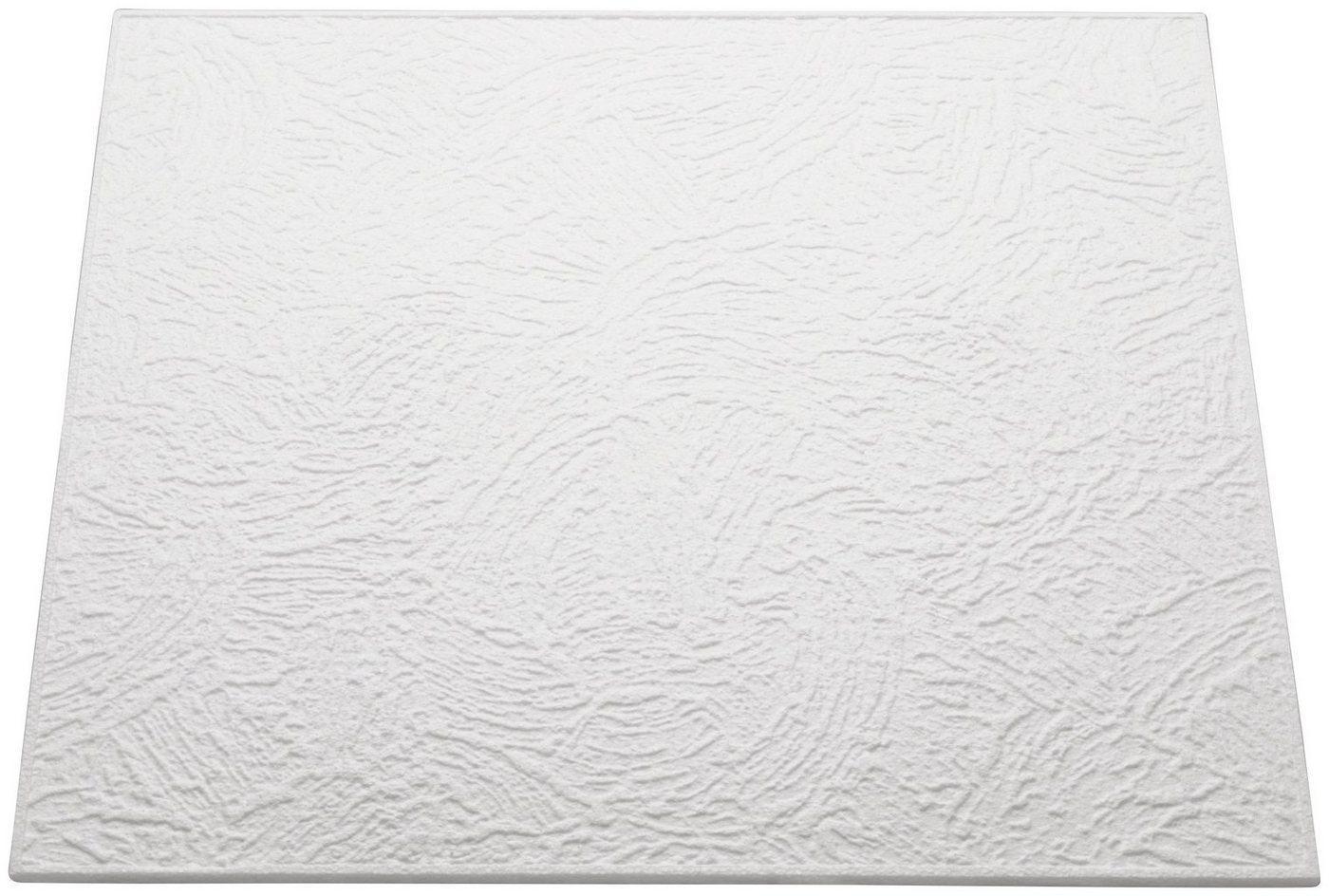 Decoflair Deckenplatten »Deckenplatte T90«, BxL: 50x50 cm, (Set, 104-tlg) in Putzoptik