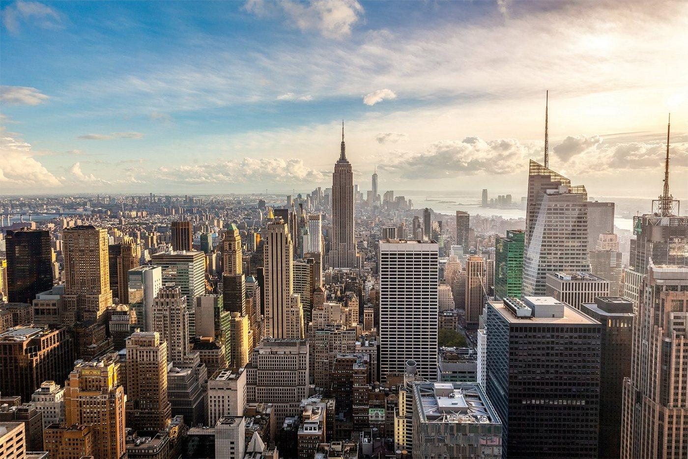Papermoon Fototapete »New York City Skyline«, glatt