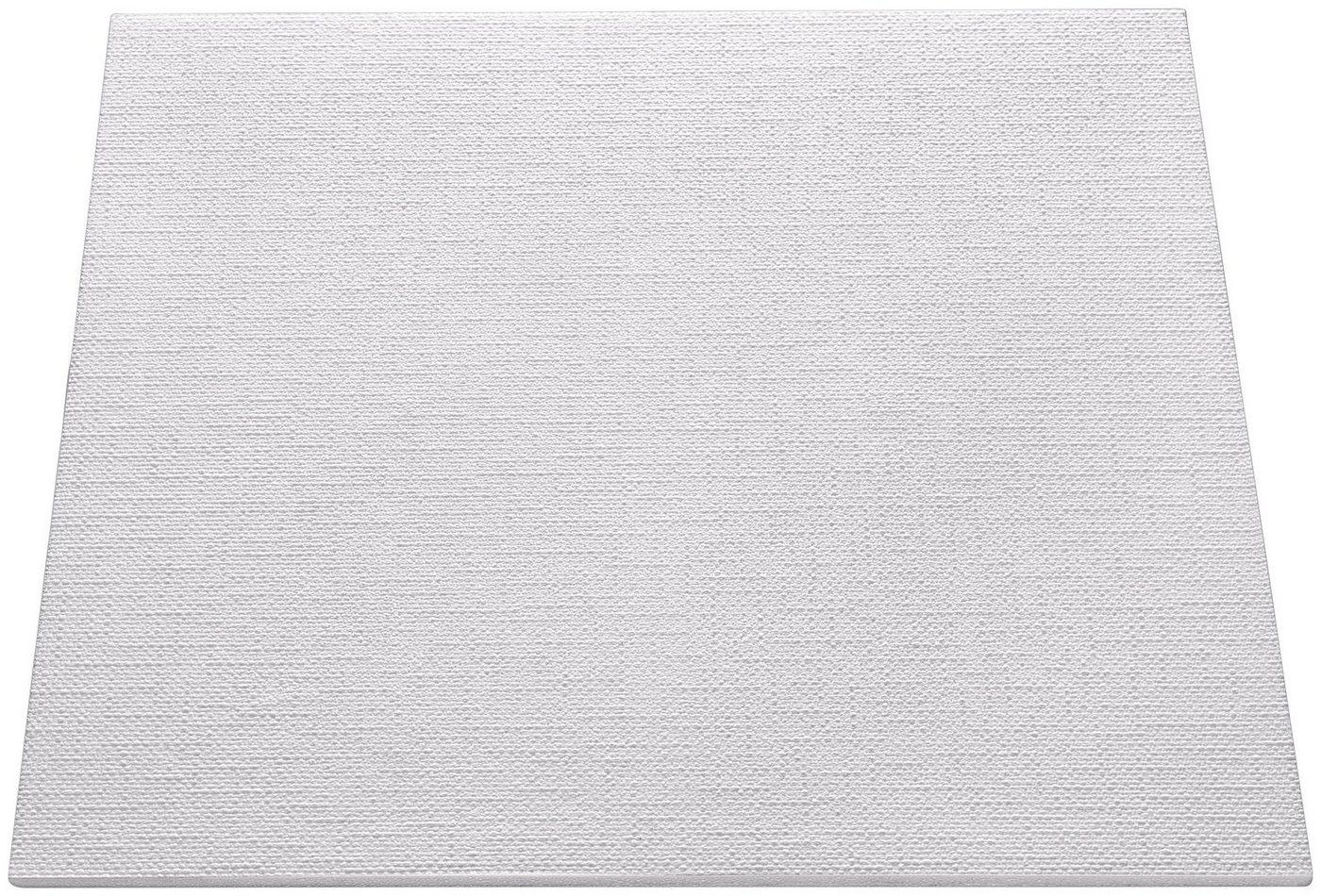 Decoflair Deckenplatten »Deckenplatte T149«, BxL: 50x50 cm, (Set, 80-tlg) in Putzoptik