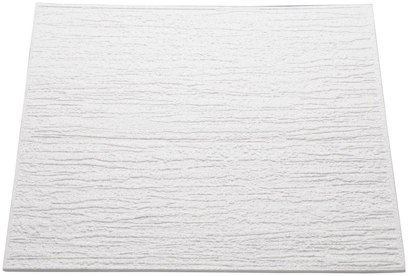 Decoflair Deckenplatten »Deckenplatte T80«, BxL: 50x50 cm, (Set, 128-tlg) in Putzoptik