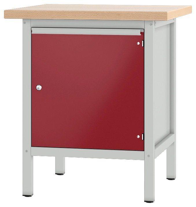 PADOR Werkbank »11 S 4«, Höhe/Länge: 85,5x75 cm, rot