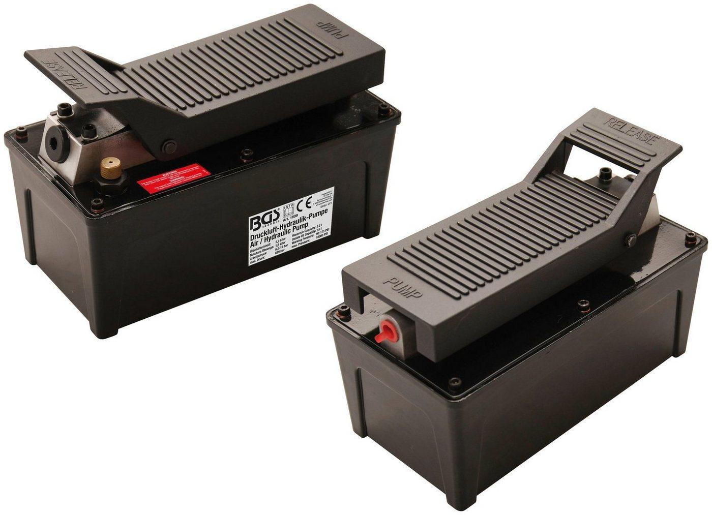 BGS Fußpumpe »Druckluft-Hydraulik-Pumpe«, für alle BGS-Hydraulikwerkzeuge, 689 Bar, 10.000 PSI