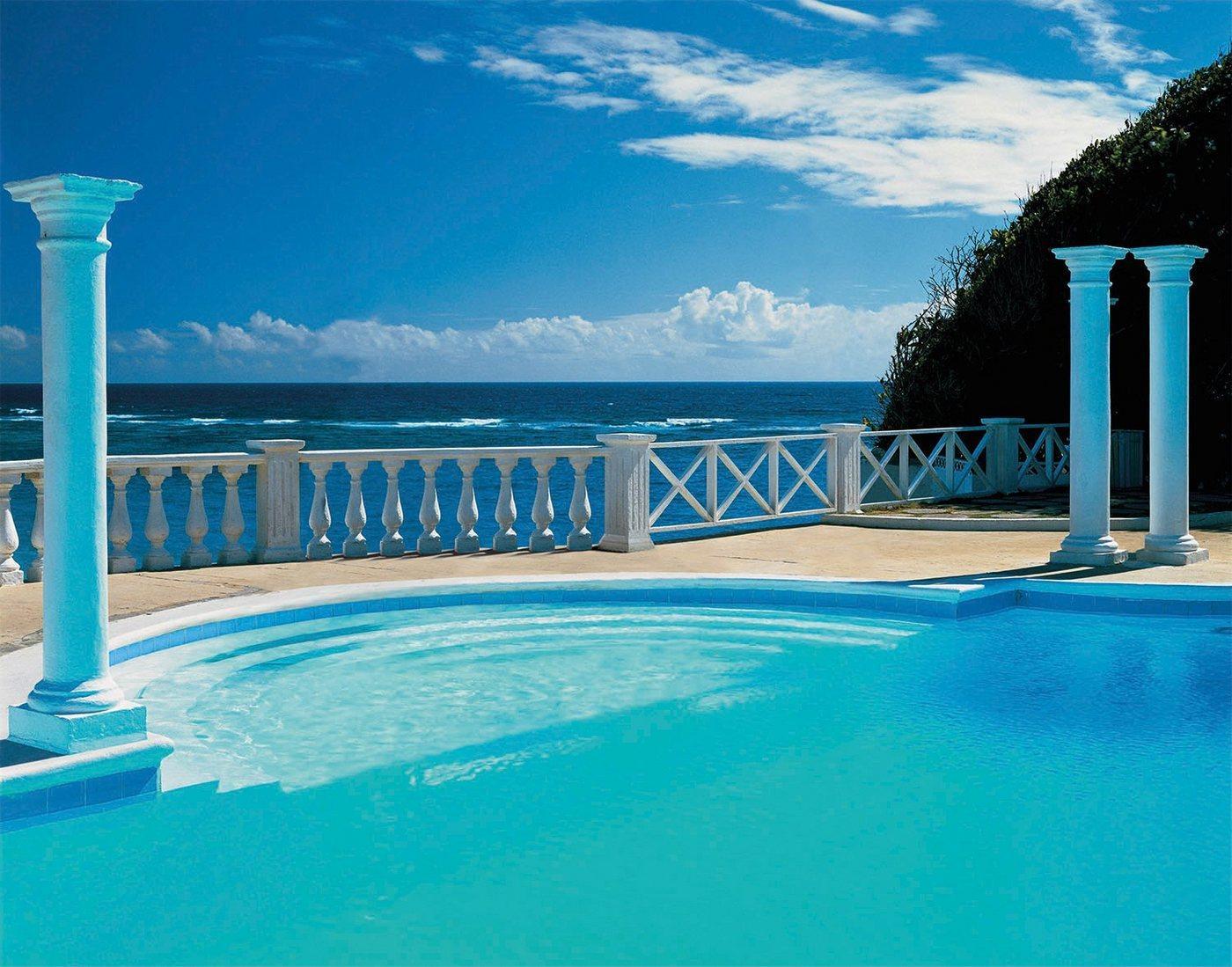 Papermoon Fototapete »Pool View«, glatt