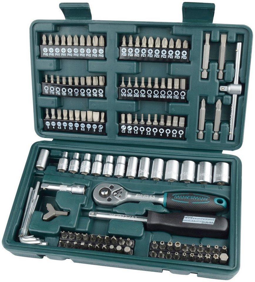 Brüder Mannesmann Werkzeuge Werkzeugset »130-tlg.«, (Set, 130-St)