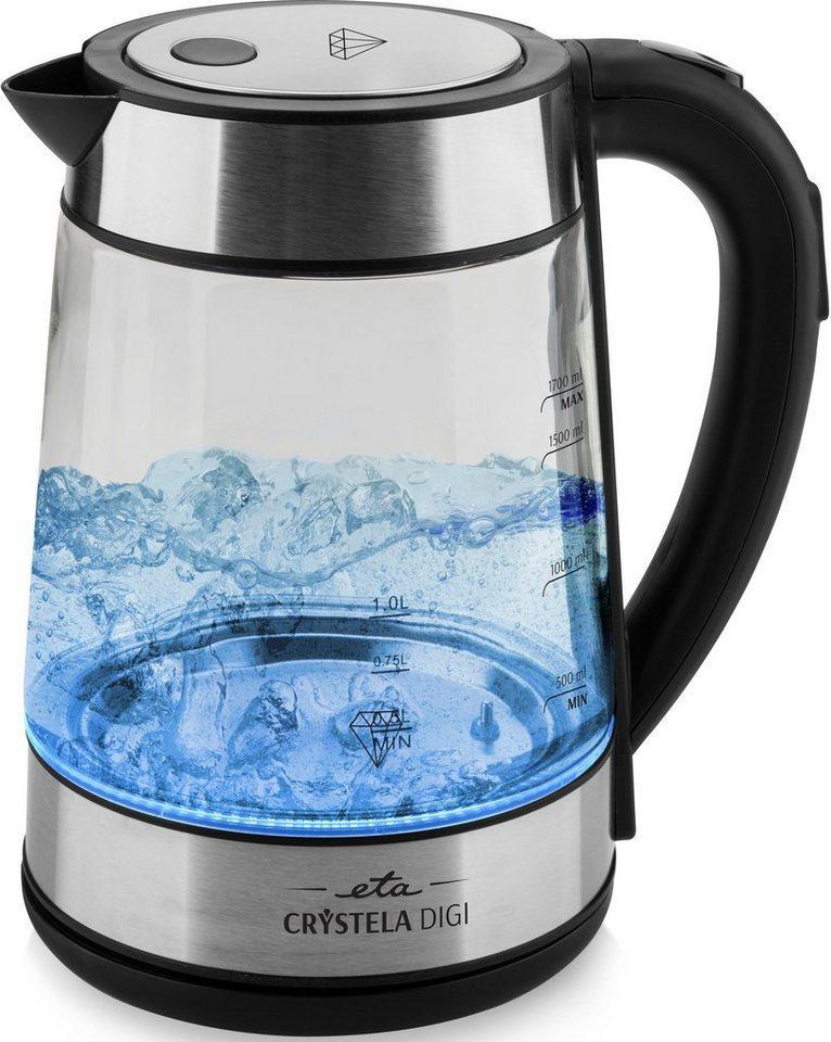 eta Wasserkocher CRYSTELLA Digi ETA715390000, 1,7 l, 2200 W, Einstellbarer Temperatur 50, 70, 80, 90, 100 °C