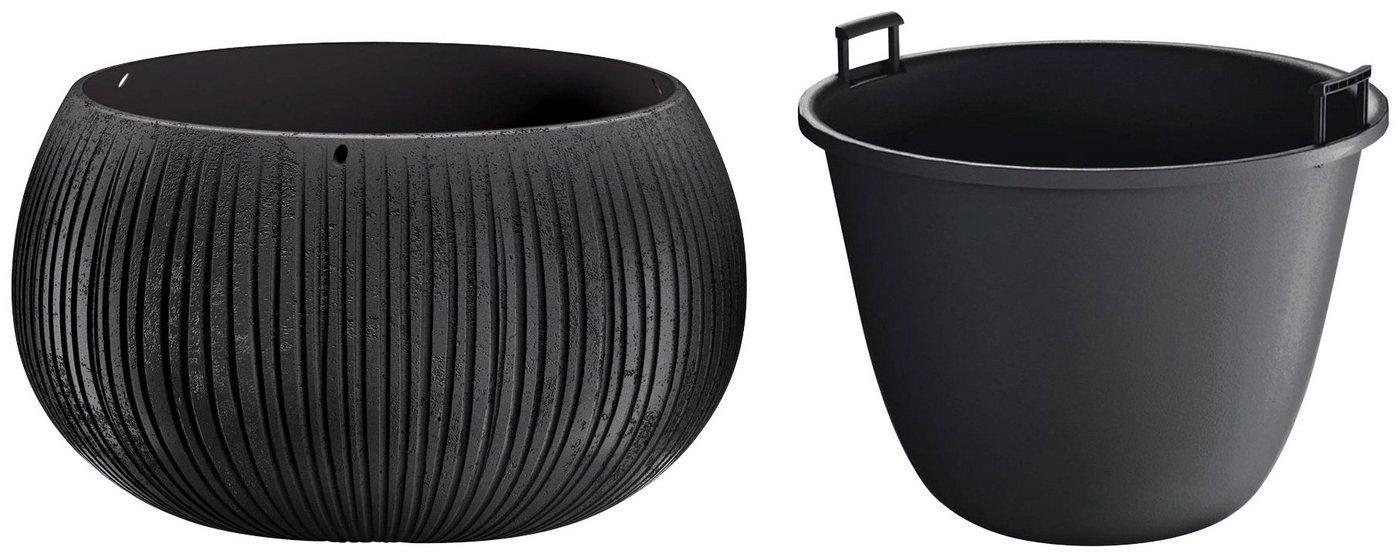 Prosperplast Blumentopf »Beton Bowl« (1 Stück), Ø37cm x 21,8cm