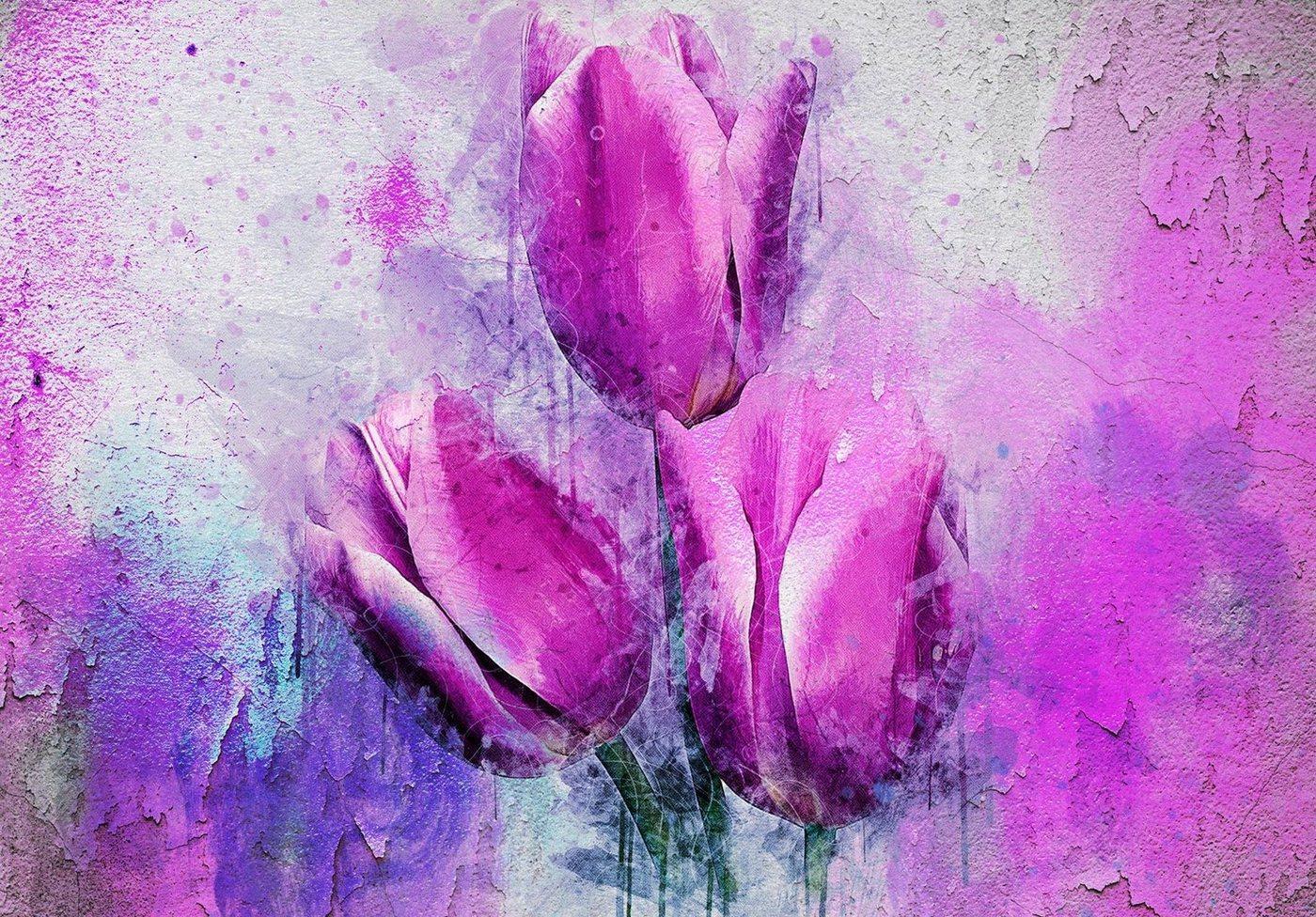 Consalnet Papiertapete »Rosa Tulpen«, floral